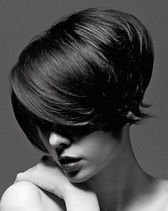 medium black straight thick bob hairstyles for women