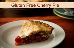 Gluten Free Cherry Pie ~ Dairy free and sugar free