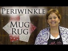 ▶ Periwinkle Mug Rug: An Easy 4th of July Quilting Project - YouTube @missouriquiltco #gifts #mugrug #quilting