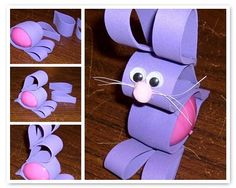 Cute Easter Egg Bunny made out of foam.