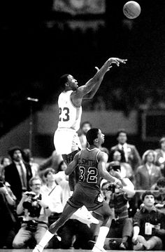 Basketball | Tumblr Michael Jordan as a freshman at UNC hitting the national championship game winning shot in 1982.