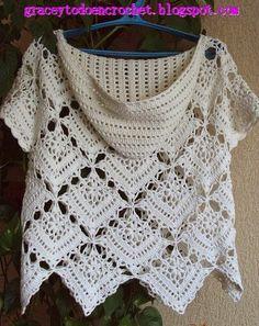 Lovely hooded top...Precioso top con capucha!