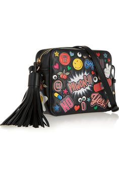 Anya Hindmarch - All Over Stickers leather shoulder bag Leather Shoulder Bag, Shoulder Strap, Larsson And Jennings Watch, Steve J, Maria Black, Black Bracelets, Anya Hindmarch, Jennifer Fisher, Brogues