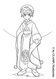 coloring page Sakura on Kids-n-Fun. Coloring pages of Sakura on Kids-n-Fun. More than coloring pages. At Kids-n-Fun you will always find the nicest coloring pages first! Blank Coloring Pages, Online Coloring Pages, Coloring Pages For Girls, Cartoon Coloring Pages, Coloring Sheets, Coloring Books, Cardcaptor Sakura, Syaoran, Kids Cartoon Characters