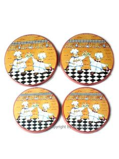 Buy Fat Chef Kitchen Accessories | Fat French Chef Burner Stove Covers / Kitchen Wall Decor