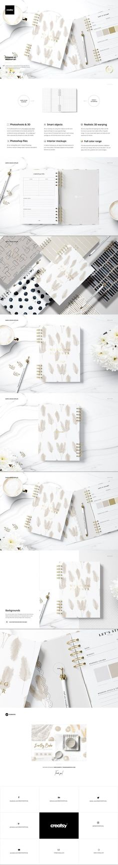 Planner Mockup Set 02 #wall #marketing #mockupdesign #graffiti #underground #templates #document #cool #psd #paris #pat #typography #pattern #MockupTemplates #postermockup #binder #print #branding #mockup Planner Template, Mockup, Color Change, Pat Pat, Paper Logo, Custom Design, Creations, Poster Templates, Letterhead