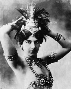 "Mata Hari (Margaretha Geertruida ""Margreet"" MacLeod), c1910. Was a Dutch exotic dancer and courtesan who was convicted of being a spy for Germany during World War I and executed by firing squad in France"