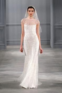 Monique Lhuillier Bridal Spring 2014 Celestial @Christopher Stowe Bride.com/blog