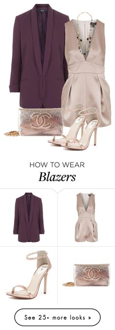 """Untitled #400"" by pinkpeony21 on Polyvore featuring Topshop, Windsor Smith and Chanel"
