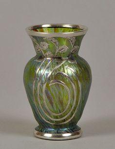 silver overlay vases | Loetz | Silver Overlay Vase - 1900. | Vases | Pinterest