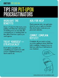 "And here's how to figure things out if you're a ""put-upon"" procrastinator: 