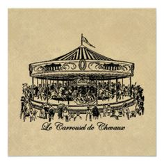 Vintage Colorful Carousel Horses Women/'s Tee Image by Shutterstock