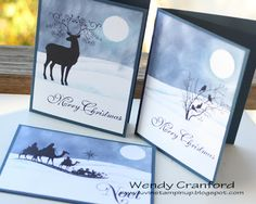 Luvin Stampin: Wintery Christmas Card