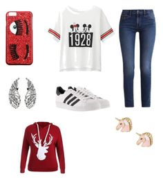 """Always go a little girl fandom to add theme"" by moustachedino1 on Polyvore featuring Calvin Klein, Uniqlo, adidas and Chiara Ferragni"