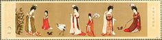 Red-crowned Crane stamps - mainly images - gallery format