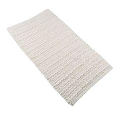 Chenille-Bobbles-Cream-Natural-Bath-Mat-Bathroom-Shower-Rug-100-Cotton