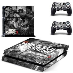 just cause 3 design skin for ps4 decal sticker console & controllers - Decal Design