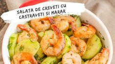 Salata de creveți cu castraveți și mărar Shrimp, Unt, Food, Salads, Eten, Meals, Diet