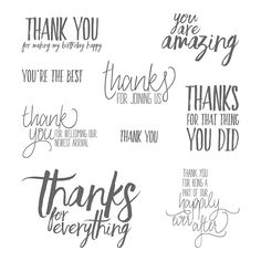 All Things Thanks Wood-Mount Stamp Set by Stampin' Up!