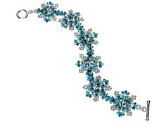 Shimmering Snowflake Bracelet.  (... from Endless Sparkle by Aimee Carpenter.  They suggest some substitutions.)