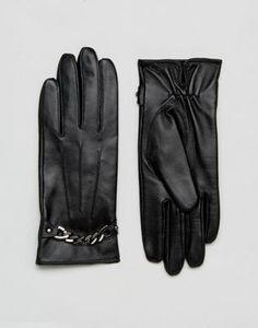 e6047019344 Перчатки из натуральной кожи с цепочкой Barney s Originals