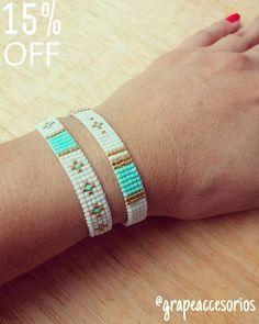 Loom Bracelet Patterns, Bead Loom Bracelets, Bead Loom Patterns, Beading Patterns, Diy Jewelry, Beaded Jewelry, Fashion Moda, Loom Beading, Bead Weaving