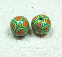 Chunky Round Handmade Polymer Clay Beads - Mix & Match with Other Listings