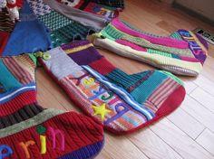 adorable homemade stockings