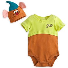 Disney Store Gus Mouse from Cinderella Onesie Costume Bodysuit Size 6-9 Months