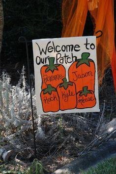 Burlap Pumpkin Garden Flag with Initial Outdoor Garden Flag