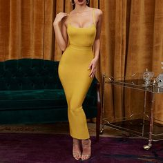 Vestidos Bandage 2019 New Arrivals Summer Party Night Women Dress Bandage Sexy Ginger Maxi Long Bandage Dress Bodycon Size XS Color ginger Sexy Dresses, Cheap Dresses, Club Dresses, Halter Dresses, Bodycon Outfits, Bodycon Dress, Sexy Outfits, Baddies Outfits, Fashionable Outfits
