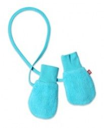 Turquoise Fleece Childrens Mittens on a String Zutano (One Size)