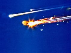 The Columbia Space Shuttle re-entry disaster - another that made me sick - another that I saw occurring live on TV  February 1, 2003