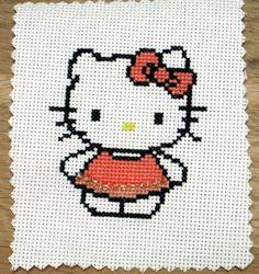 Erin...Cross Stitch: Hello Kitty by OrangeZoo, via Flickr