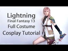 Lightning Final Fantasy 13 Full Costume Cosplay Tutorial