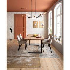 Tableau Touched Héron Gauche Kare Design - Taille : 50 x 70 cm Kare Design, Estilo Color Block, Plafond Design, Black Table, Ceiling Design, Upholstered Chairs, Room Colors, Side Chairs, Colorful Interiors