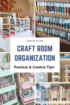 20 Amazingly Creative Ideas to Organize Your Craft Room - Diy Kitchen Ideas 2019 Craft Storage Solutions, Craft Room Storage, Diy Storage, Storage Ideas, Craft Rooms, Yarn Storage, Office Storage, Ribbon Organization, Craft Organization