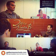 Equipe na preparação para nosso web seminário #dobresuasvendas. #QGmachado