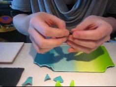 Watercolor mosaic - polymer clay DIY ... http://youtu.be/rFRm61Ei1d4