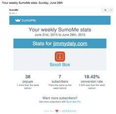 SumoMe retention email