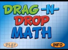 Drag 'N' Drop Math is an online workshop in which students can easily complete multi-digit addition, subtraction (with regrouping), multiplication, and div Math Skills, Math Lessons, Math Resources, Math Activities, Second Grade Math, Sixth Grade, Fourth Grade, Fun Math, Maths