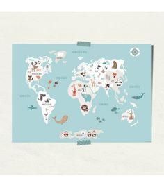 Láminas-infantiles-mapamundi