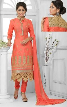 Picture of Stunning Rust Orange Traditional Salwar Kameez