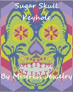 Sugar Skull Keyhole Word Map & Chart | Bead-Patterns