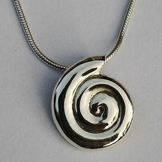 Sterling silver handmade sea shell on silver snake chain Silver Jewellery, Silver Necklaces, Sterling Silver Jewelry, Handmade Silver, Handcrafted Jewelry, Silver Pendants, Sea Shells, Snake, Pendant Necklace