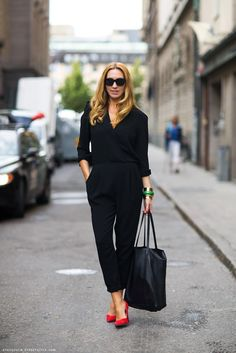 45 Stylish Summer Outfit Ideas With Jumpsuit You Should Try To Work fashion # fashion Fashion Mode, Work Fashion, Womens Fashion, Fashion Black, Office Fashion, Fashion Trends, Fashion News, Style Fashion, Corporate Fashion
