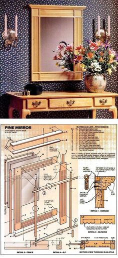 Hall Mirror Plans - Woodworking Plans and Projects | WoodArchivist.com