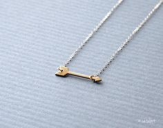 En Pointe  Delicate Raw Brass Arrow 14kt Gold Filled by catabot, $26.00