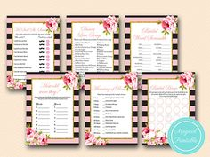 Pink Parisian Chic Pink and Gold Bridal Shower by MagicalPrintable