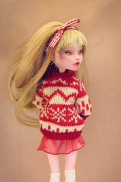 Ruby in sweater - Monster High OOAK doll by *Szklanooka on deviantART
